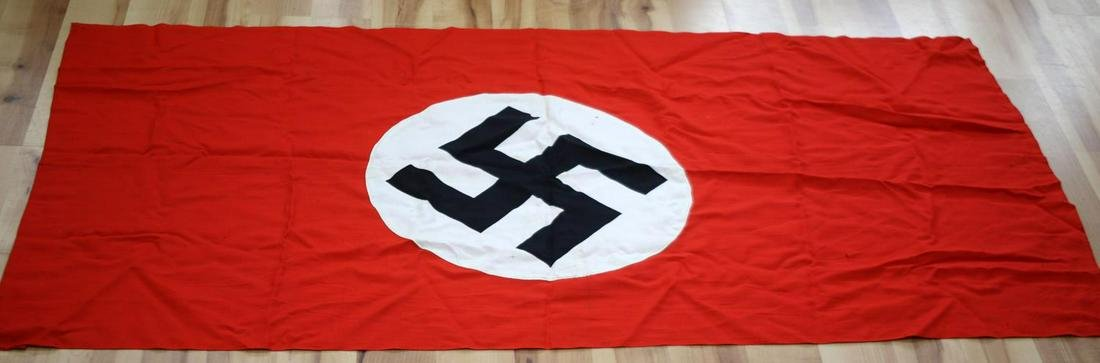 WWII GERMAN THIRD REICH NSDAP BANNER FLAG