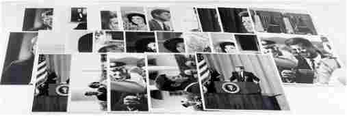 LARGE PHOTO LOT OF PRESIDENT JOHN F KENNEDY SIGNED