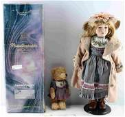 """HAND CRAFTED ADELINE CREATIONS GERMAN 53"""" DOLL"""