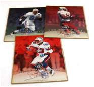NFL FOOTBALL PLAYER AUTOGRAPH PHOTO LOT OF 3