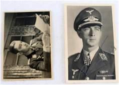WWII GERMAN WERNER MOLDERS SIGNED POSTCARD PHOTO