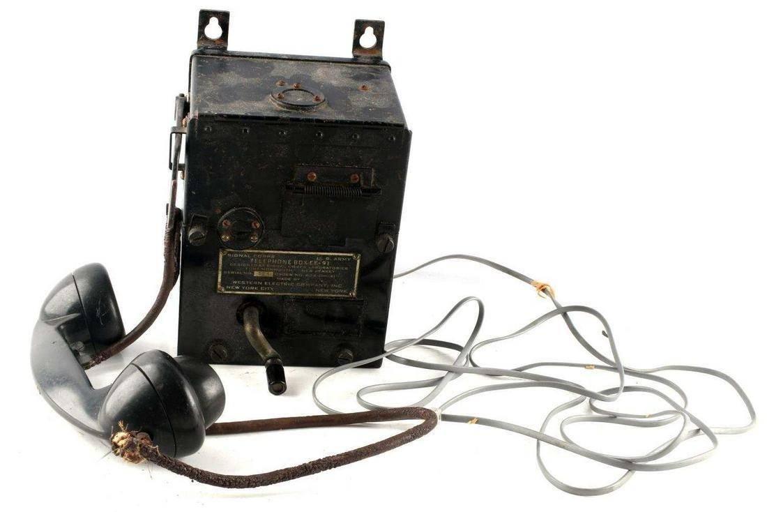 KOREAN WAR VIETNAM US ARMY EE 91 TELEPHONE BOX
