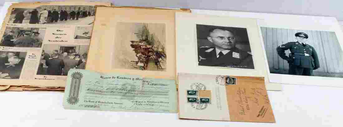 WWII GERMAN 3RD REICH SIGNED PHOTO AND PAPER LOT