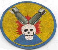 WWII HAND PAINTED LEATHER BOMBER JACKET PATCH