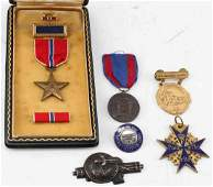LOT OF 6 MIXED MILITARY MEDALS US GERMAN RCAF