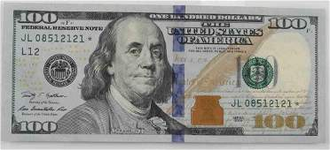 2009 SERIES UNCIRCULATED $100 FACE STAR NOTE