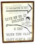 WW2 US MILITARY JAPAN STD PROPOGANDA POSTER FRAMED