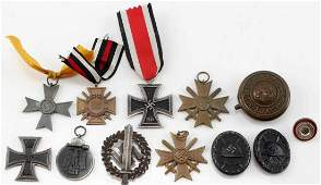 WWI & WWII GERMAN THIRD REICH MEDAL LOT