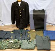 US ARMY WWII SHAEF COAT & OTHER MILITARY UNIFORMS