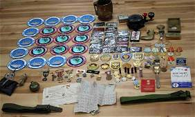 LARGE MULTI CONFLICT MILITARY COLLECTIBLES LOT