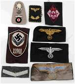 WWII GERMAN MISC CLOTH INSIGNIA GROUP
