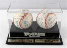 TAMPA BAY RAYS 1998 & 1999 TEAM AUTOGRAPHED BALL