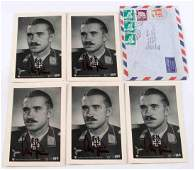 5 WWII GERMAN ACE ADOLF GALLAND AUTOGRAPHED CARDS