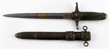 WWII HUNGARIAN FIRE MARSHALLS DAGGER AND SCABBARD