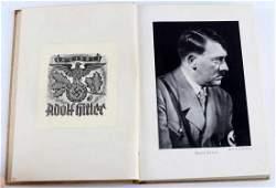 GERMAN WWII THIRD REICH BOOK W HITLER'S EX LIBRIS