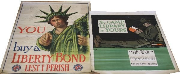 WWI UNITED STATES POSTER LOT OF 2
