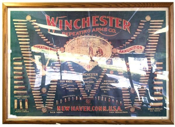 WINCHESTER REPEATING RIFLES AMMUNITION POSTER