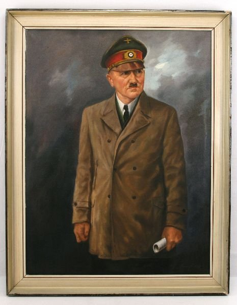 OIL ON CANVASS PAINTING OF ADOLF HITLER