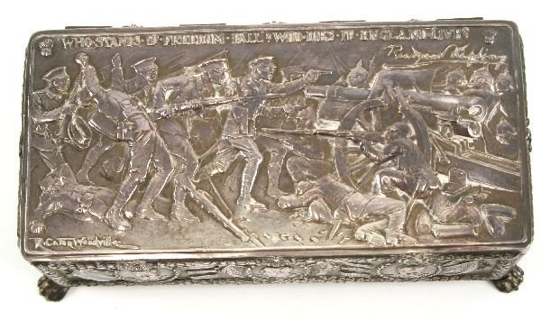 WWI PATRIOTIC SILVERED BOX R CATON WOODVILLE - 2
