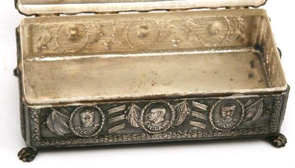 WWI PATRIOTIC SILVERED BOX R CATON WOODVILLE - 3