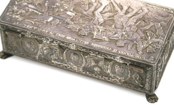 WWI PATRIOTIC SILVERED BOX R CATON WOODVILLE - 4
