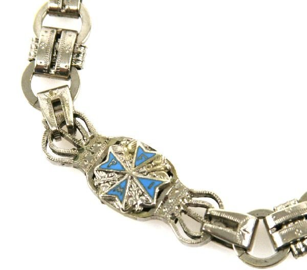 POCKET WATCH CHAIN AND FOB WITH BLUE MAX - 3
