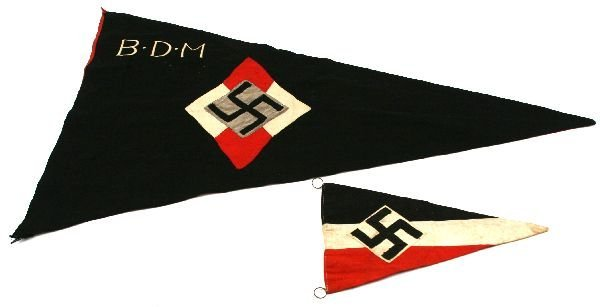 THIRD REICH BDM GIRLS HITLER YOUTH PENNANT