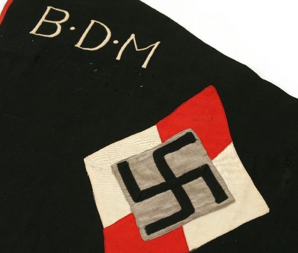 THIRD REICH BDM GIRLS HITLER YOUTH PENNANT - 3