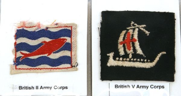 WWII BRITISH ARMY DIVISIONAL FORMATION PATCH LOT - 2