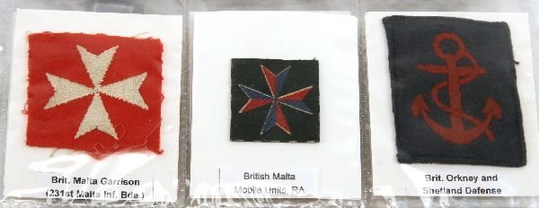WWII BRITISH ARMY DIVISIONAL FORMATION PATCH LOT - 3