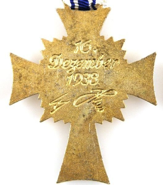 WWII GERMAN MOTHERS CROSS LOT – BRONZE SILVER GOLD - 4