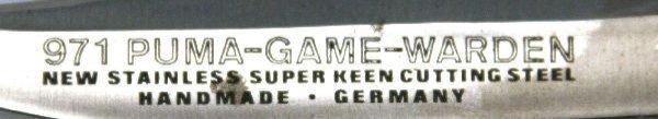 PUMA 971 GAME WARDEN 2 BLADE LOCK BACK KNIFE - 2