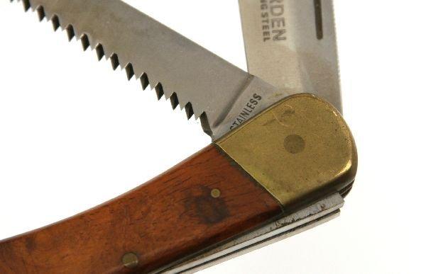 PUMA 971 GAME WARDEN 2 BLADE LOCK BACK KNIFE - 3