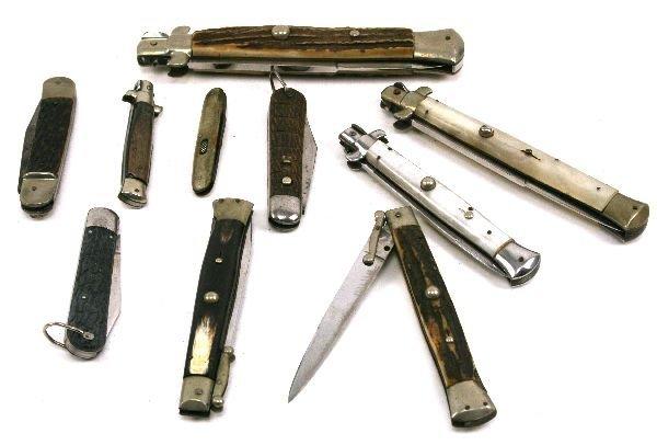 STILETTO SWITCHBLADE KNIFE LOT OF 10