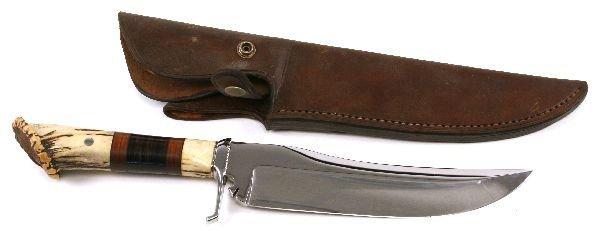 "JAMES ""HOOT"" GIBSON HANDMADE KNIFE"