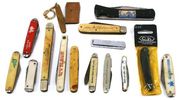 US ADVERTISING POCKET KNIFE LOT PLUS MASONIC