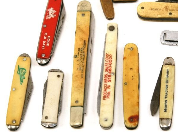 US ADVERTISING POCKET KNIFE LOT PLUS MASONIC - 2