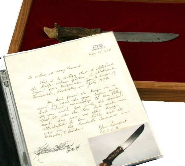 IMPORTANT HUNTING KNIFE ATTRIBUTED TO BEN LILLY - 5