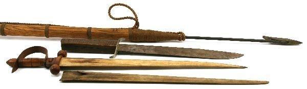 HARPOON SWORDFISH SWORD AND ADVERTISING KNIFE
