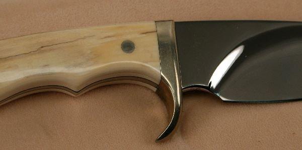 BUCK CUSTOM KNIFE 0006 MASTODON IVORY SIGNED FISK - 3