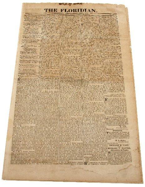 1823 THE FLORIDAN PENSACOLA FLORIDA NEWSPAPER