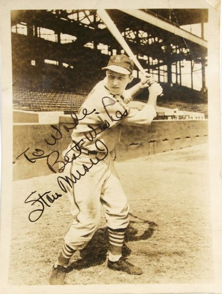 AUTOGRAPHED STAN MUSIL PHOTO