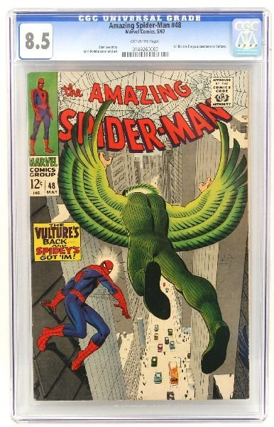 AMAZING SPIDER-MAN #48 CGC 8.5 VULTURE APPEARANCE