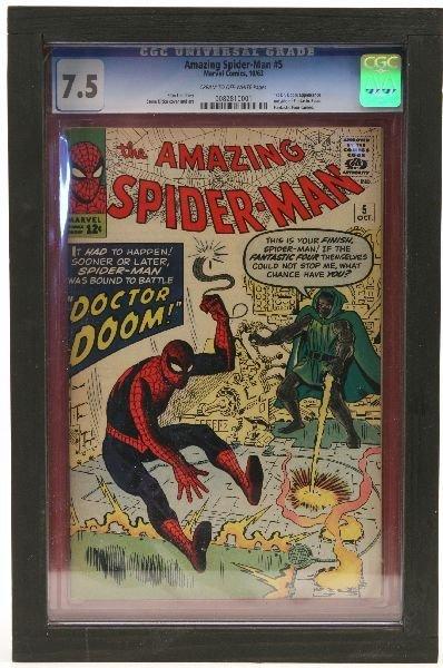 AMAZING SPIDERMAN #5 1963 CGC 7.5 COMIC
