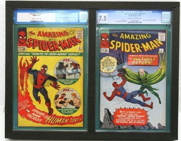 AMAZING SPIDER-MAN #7 & #8 CGC 7.0 7.5