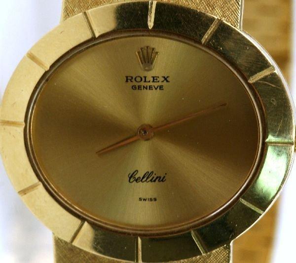 MEN'S VINTAGE 18K GOLD ROLEX CELLINI WATCH - 2