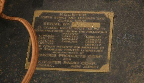 ANTIQUE RADIO PHILCO 42-350 & KOLSTER MODEL K-20 - 6