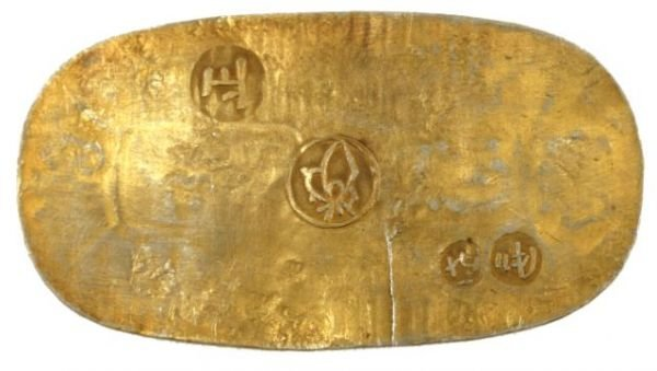 31265A: ANTIQUE JAPANESE KOBAN GOLD COIN - 2