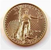 2020 1/10 OUNCE AMERICAN EAGLE GOLD COIN BU