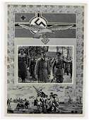 WWII GERMAN THIRD REICH HITLER SIGNED POSTCARD